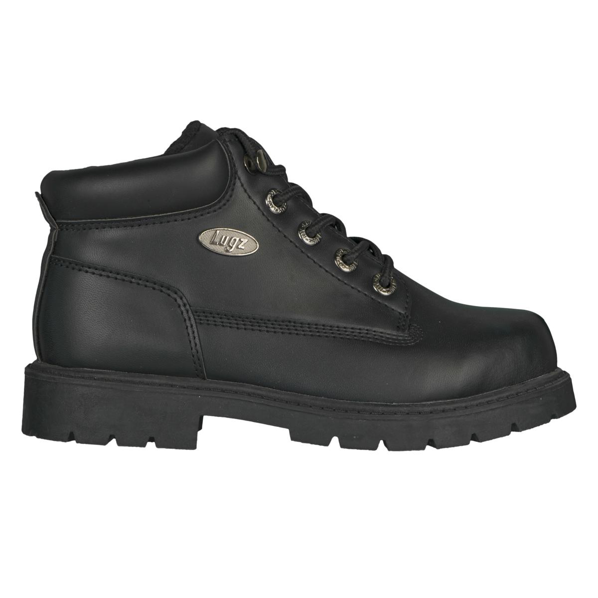 lugz drifter fleece boys boot black stylish footwear