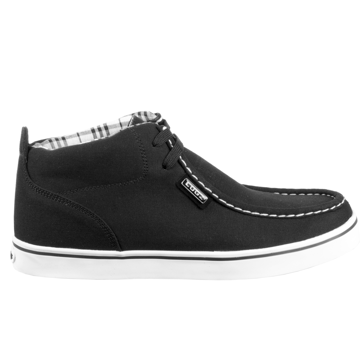 Lugz Strider Boys Shoe Black/White/Plaid