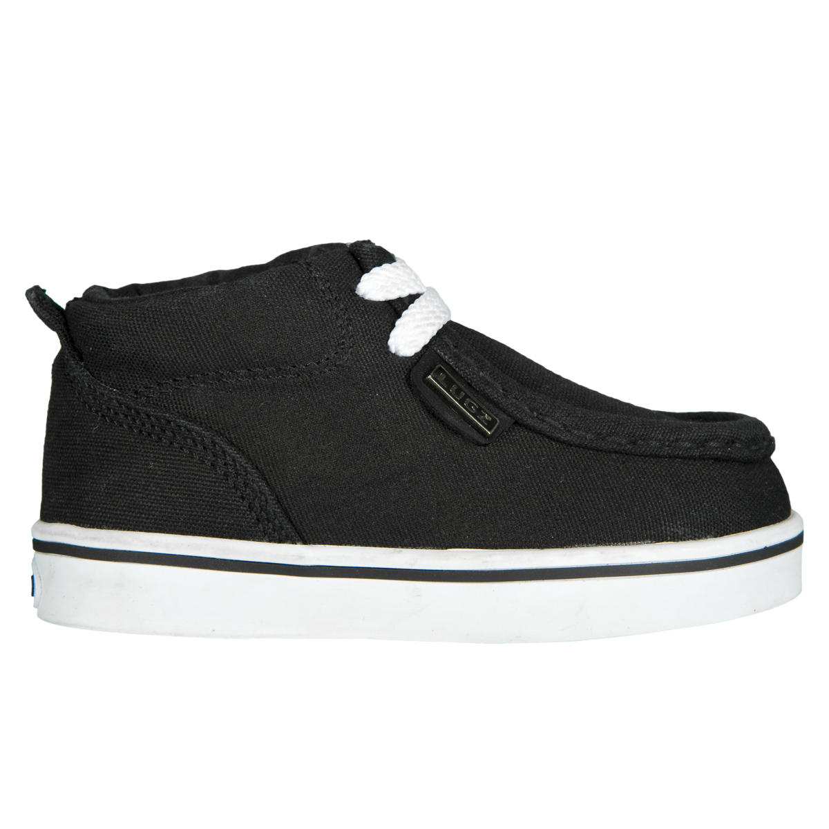 lugz strider infants shoe black white stylish footwear