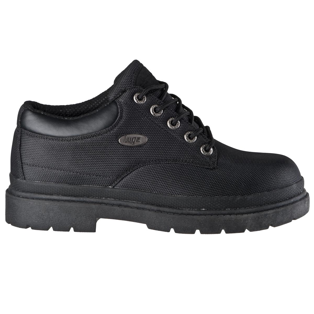 lugz drifter lo ballistic mens boot black stylish footwear