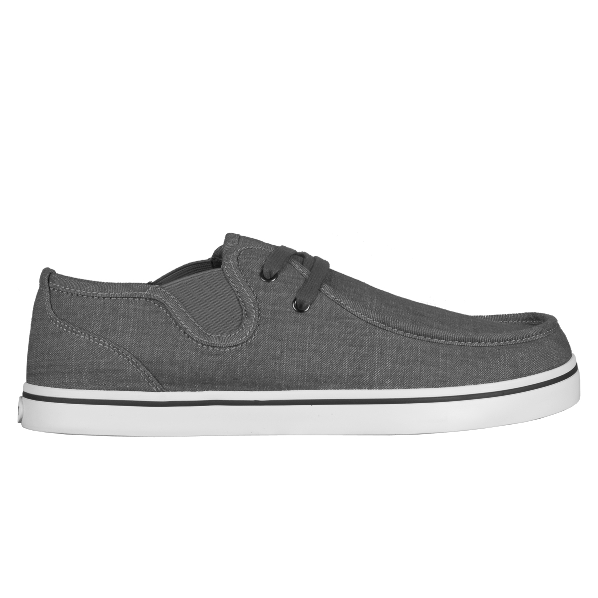 Lugz Sparks Slip Denim Mens Shoe Charcoal/White