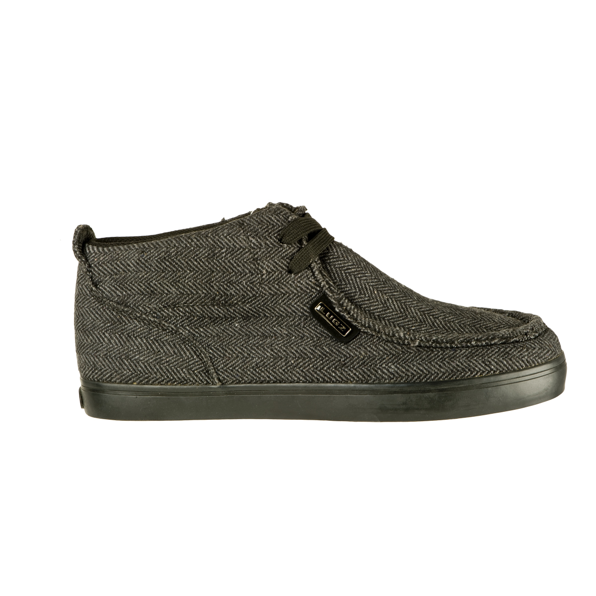 Lugz Strider Herringbone Mens Shoe Black/Dk Grey/Black/Herribone
